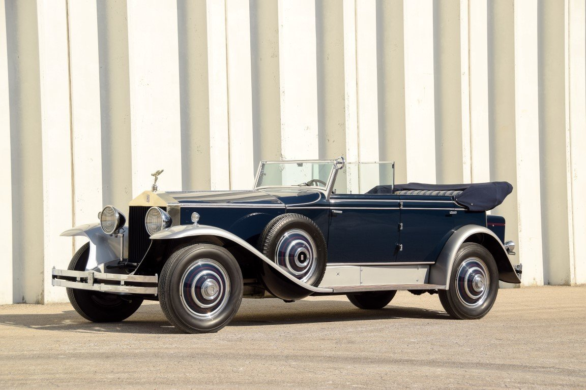 1930 rolls royce phantom i newmarket convertible sedan