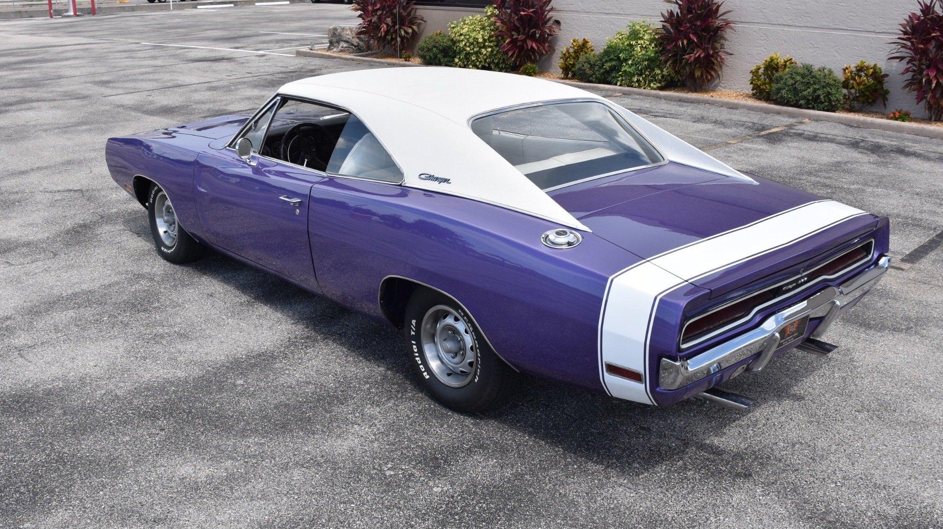 1970 Dodge Charger 383 Auto Plum Crazy Purple Ideal Classic Cars Llc