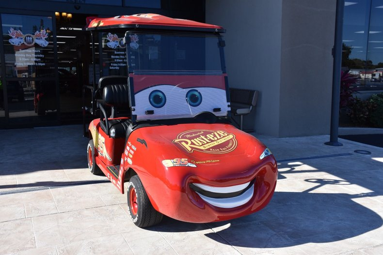 2014 z lightning mcqueen ez go rxv golf cart