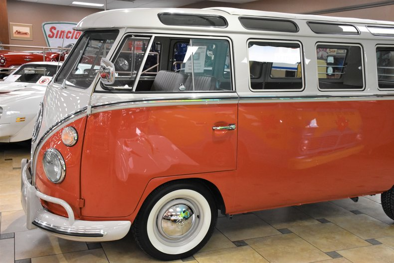 1964 volkswagen type 2 samba 21 window