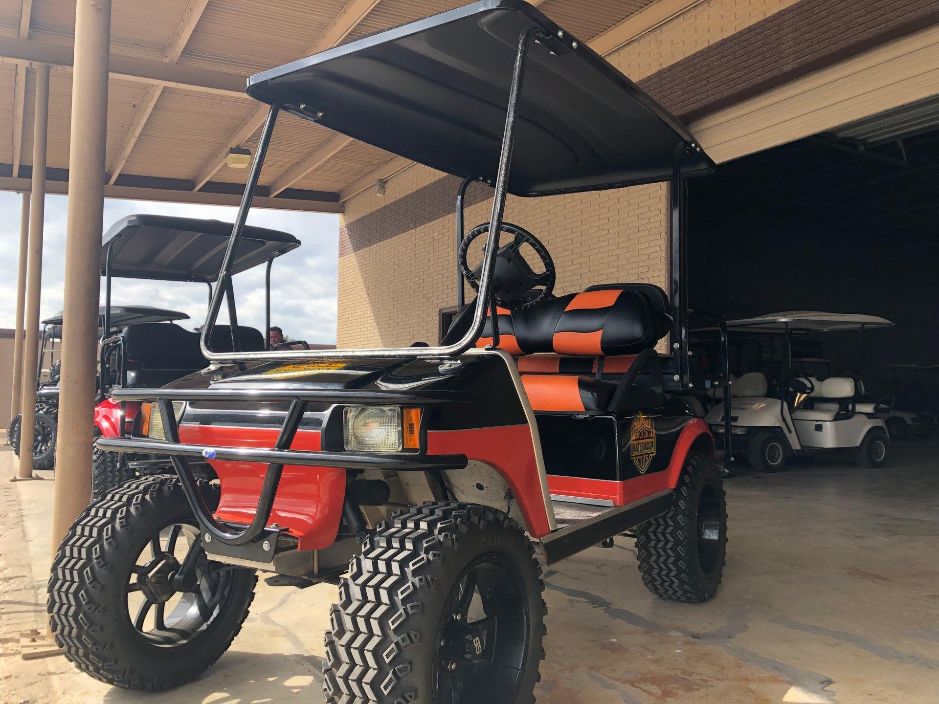 2003 club car custom harley davidson motif golf cart