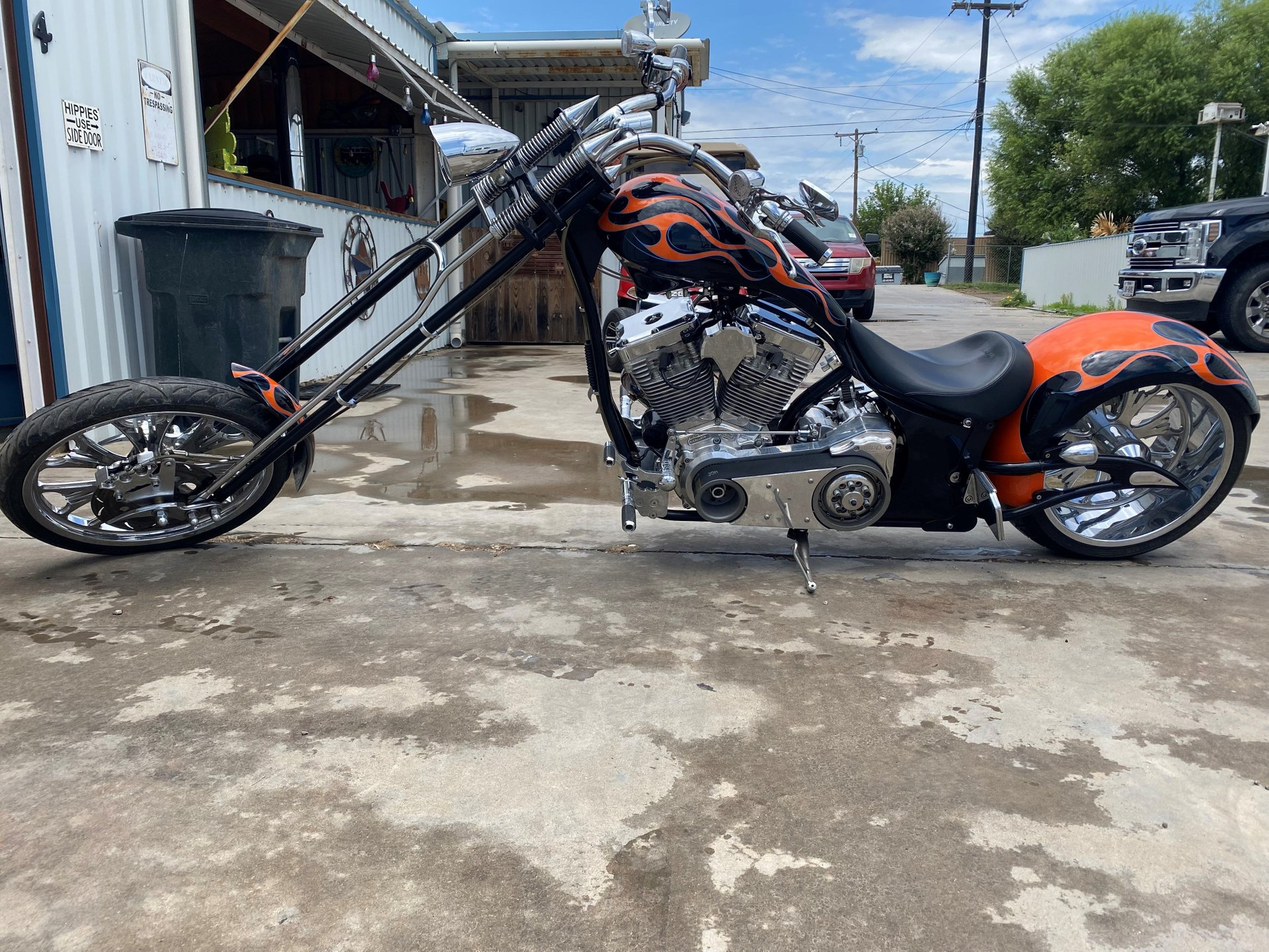 2009 big bear motorcycle sled chopper