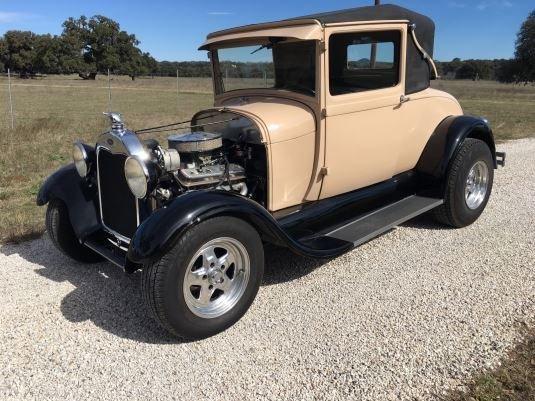 1928 ford model a landau hot rod