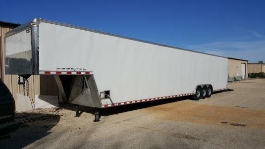 2011 continental cargo 48 foot triple axle gooseneck enclosed trailer