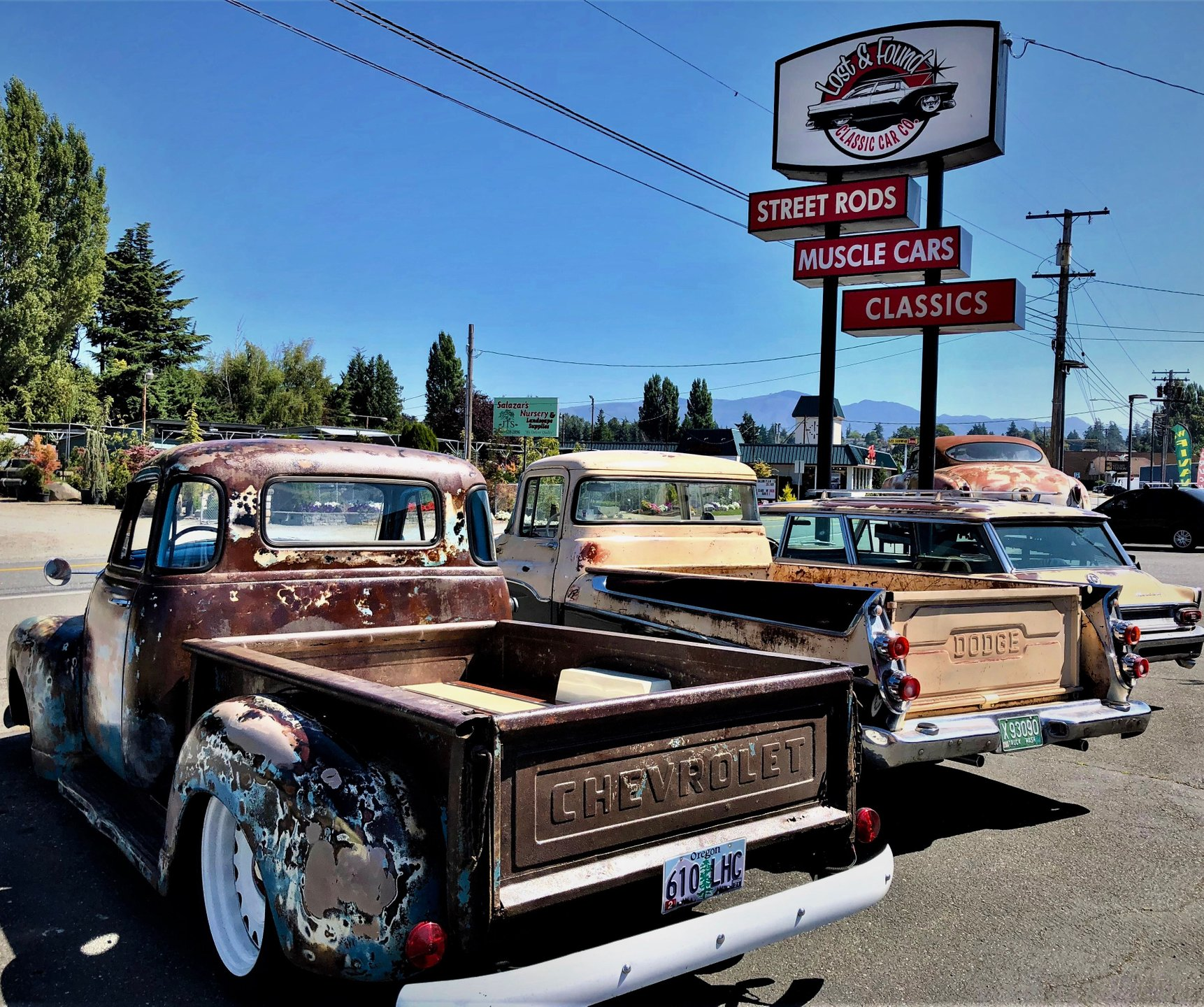 Vintage antique car dealer look behind the scenes