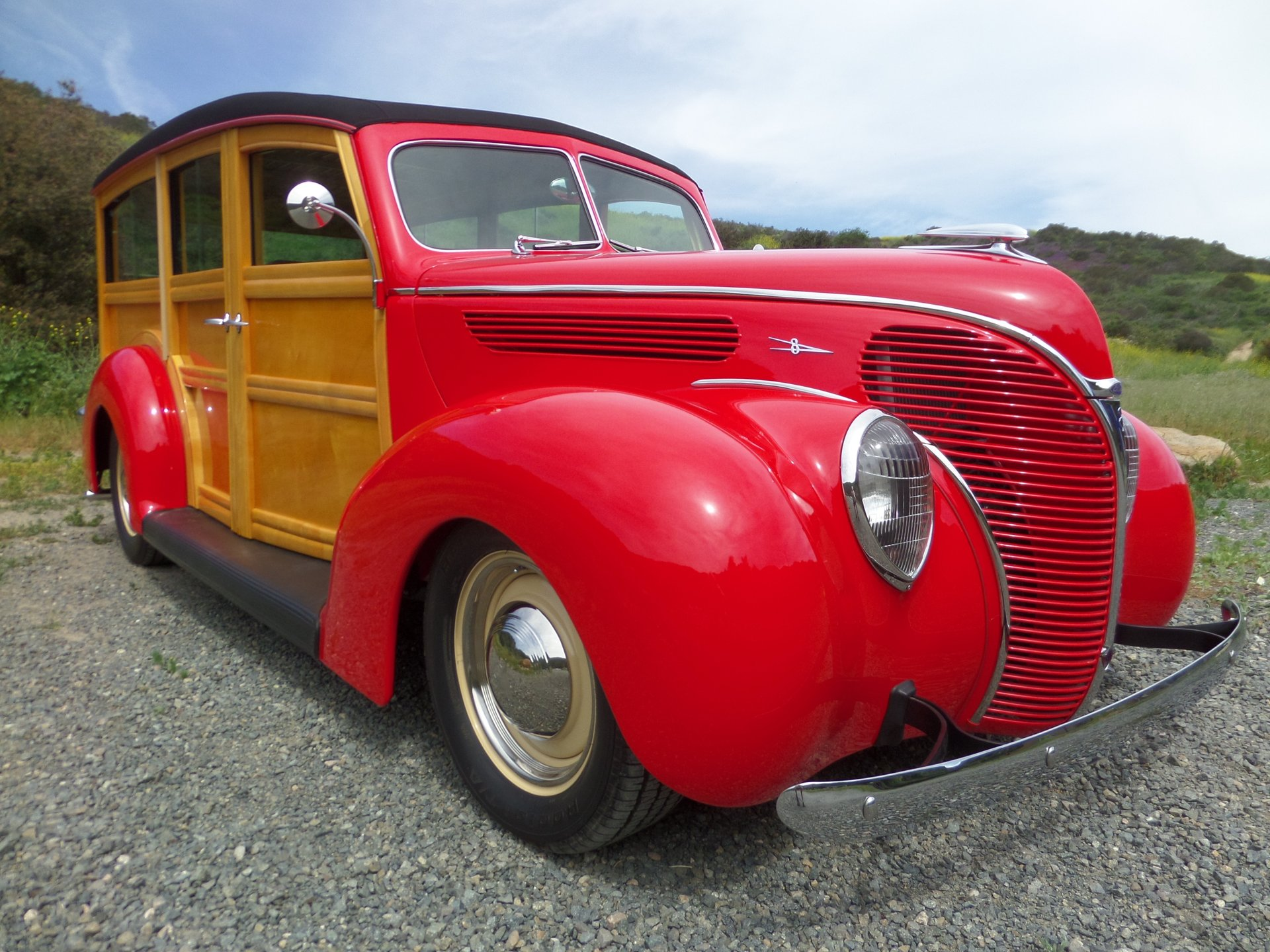 1938 ford deluxe woody station wago