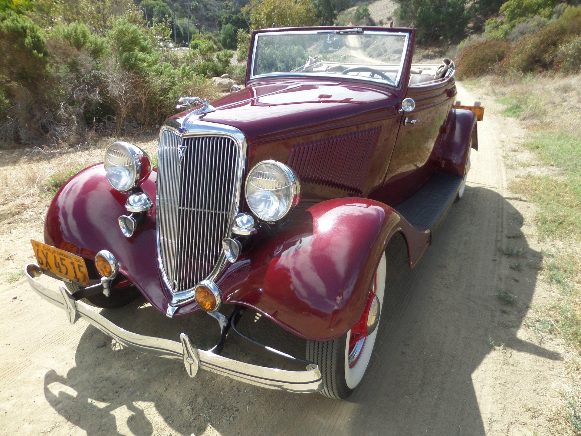 1934 ford cabriolet flathead v8