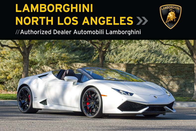 2016 Lamborghini Huracan LP610-4 Spyder For Sale
