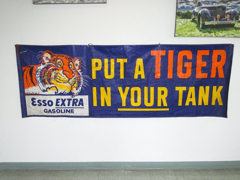 "Esso ""Put a tiger in your tank"" Banner"