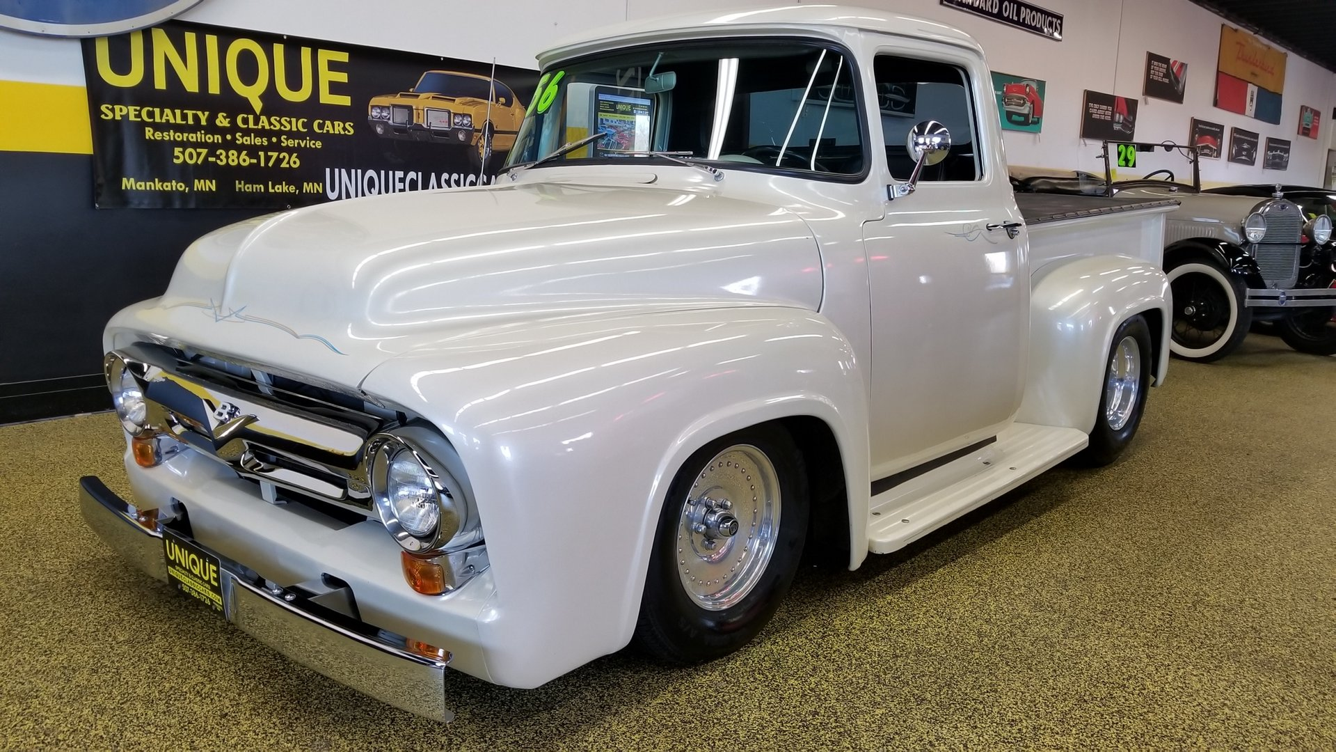 1956 Ford F100 Pickup Street Rod For Sale 107375 Mcg 1955 Power Steering Truck