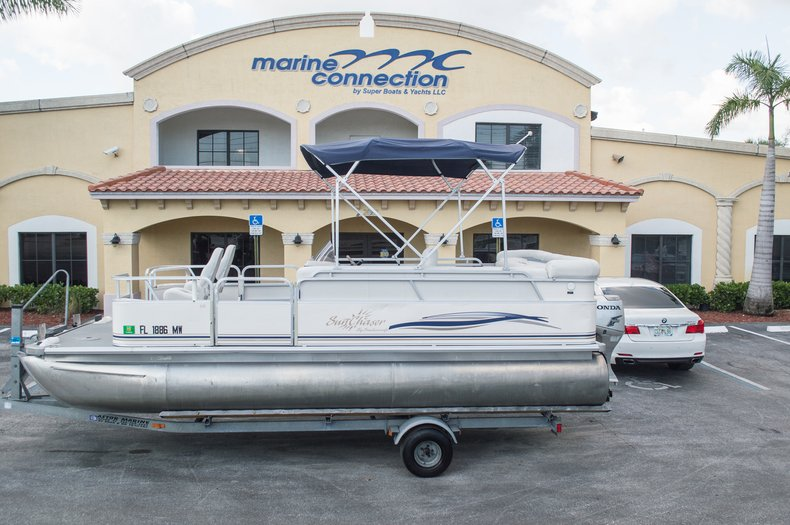 Used 2005 Sun Chaser 820 Fish Re Pontoon Boat For Sale In West Palm