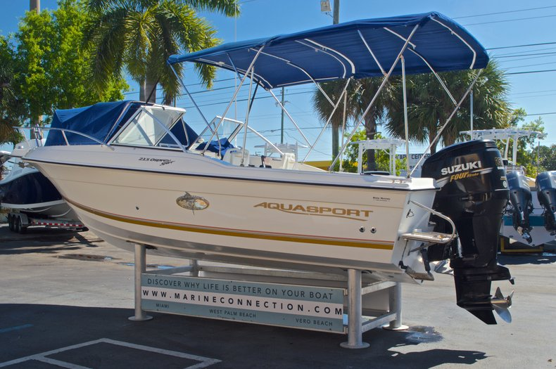 Thumbnail 5 for Used 2000 Aquasport 215 Osprey Sport DC boat for sale in West Palm Beach, FL