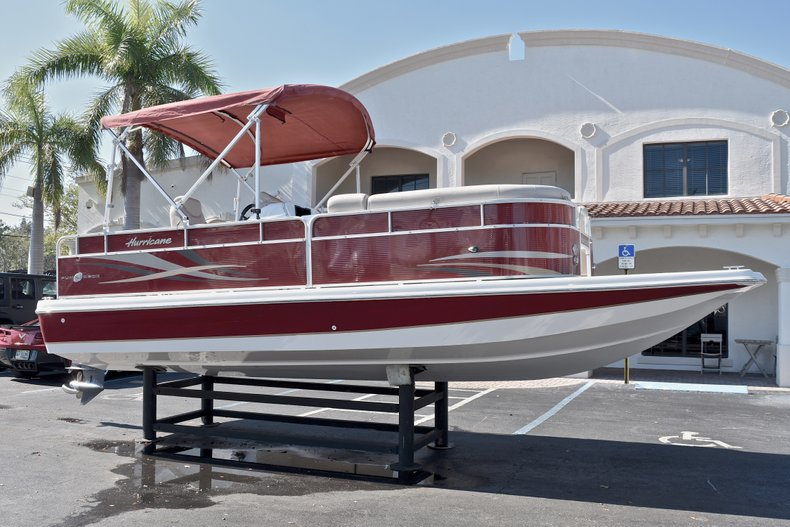 Thumbnail 1 for Used 2015 Hurricane FunDeck FD 236 OB boat for sale in West Palm Beach, FL