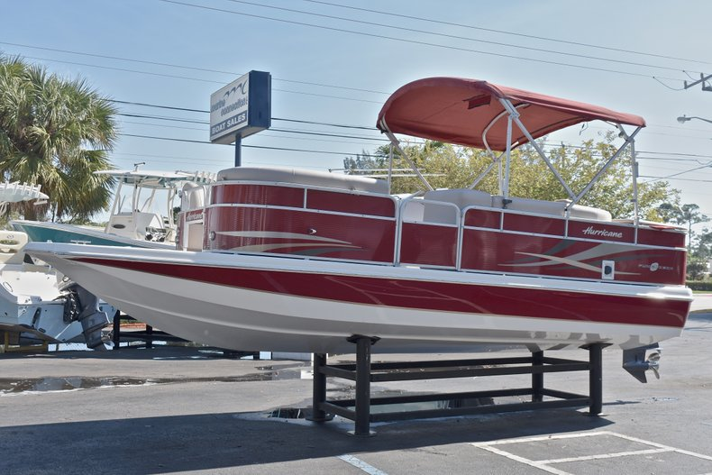 Thumbnail 3 for Used 2015 Hurricane FunDeck FD 236 OB boat for sale in West Palm Beach, FL