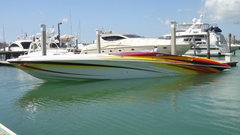 Thumbnail 5 for Used 2004 Hustler 50 Performance Yacht boat for sale in West Palm Beach, FL