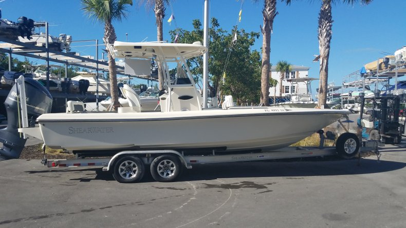 Thumbnail 1 for Used 2015 Shearwater 26 Carolina Bay Boat boat for sale in Islamorada, FL