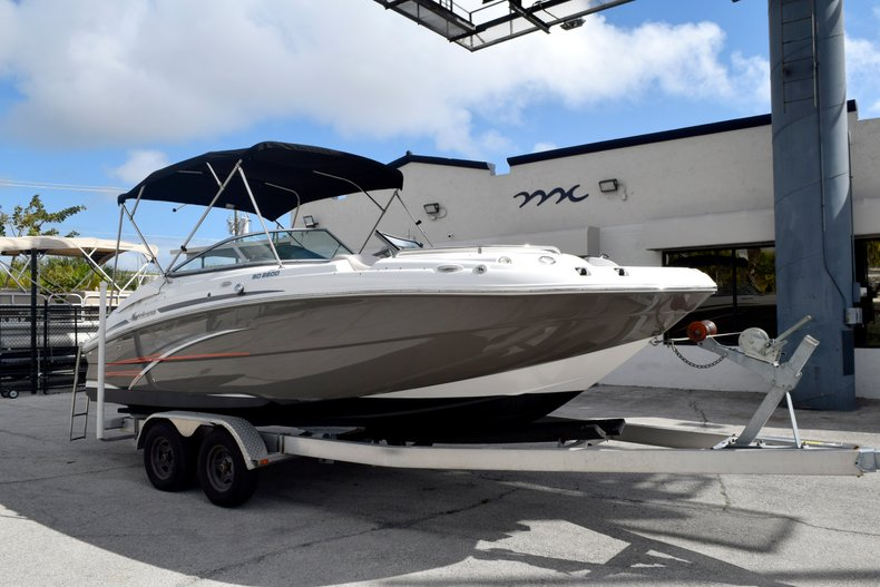 Thumbnail 1 for Used 2017 Hurricane SunDeck SD 2200 OB boat for sale in Fort Lauderdale, FL