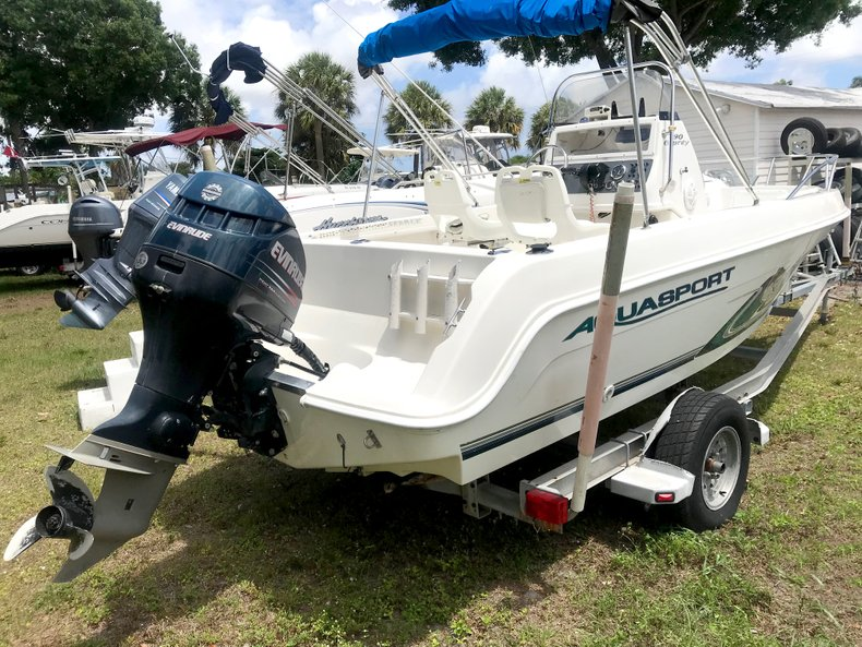 Thumbnail 1 for Used 2002 Aquasport 190 Osprey CC boat for sale in West Palm Beach, FL