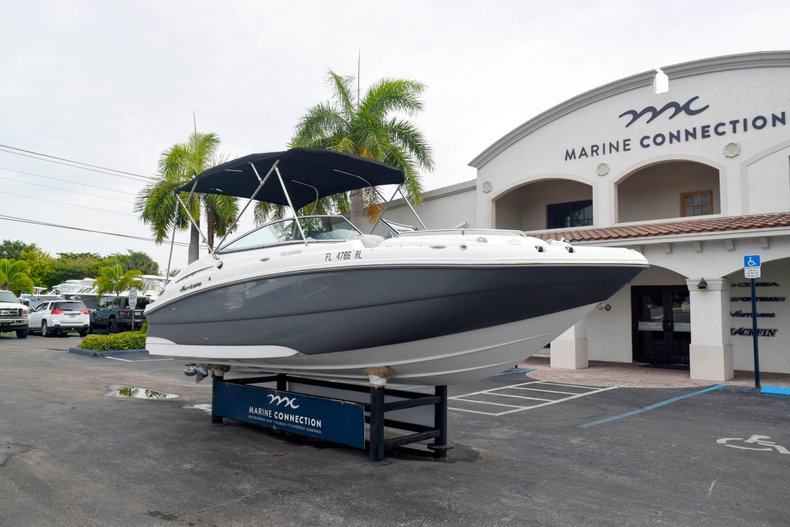 Thumbnail 1 for Used 2018 Hurricane SunDeck SD 2200 OB boat for sale in West Palm Beach, FL