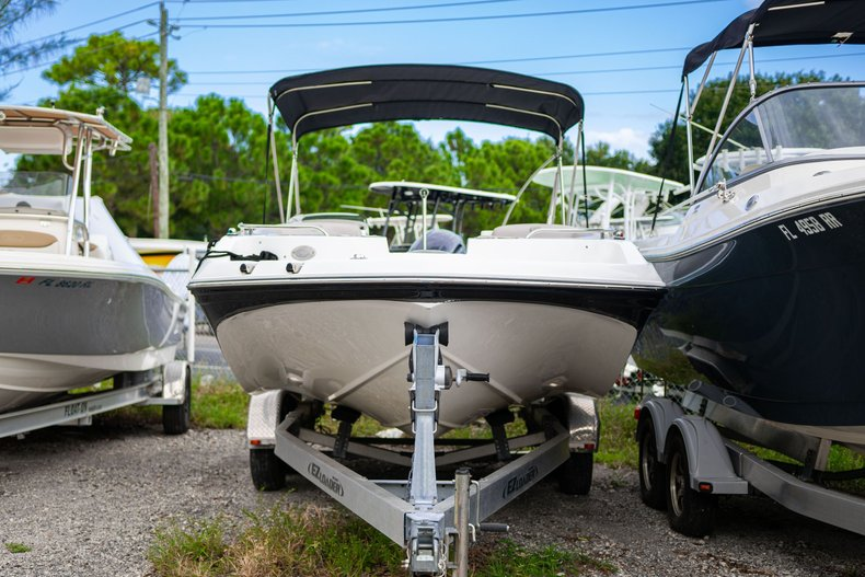 Thumbnail 1 for Used 2017 Hurricane SunDeck Sport SS 188 OB boat for sale in West Palm Beach, FL