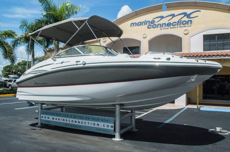 Thumbnail 1 for Used 2013 Hurricane SunDeck SD 2000 OB boat for sale in Vero Beach, FL