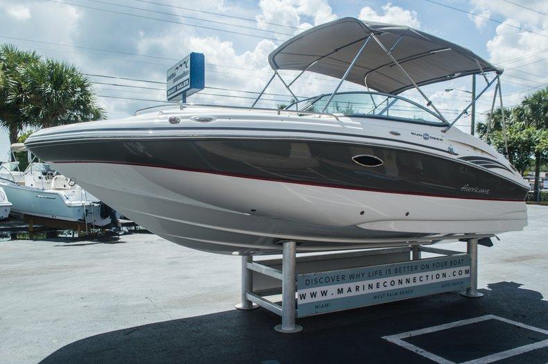 Thumbnail 3 for Used 2013 Hurricane SunDeck SD 2000 OB boat for sale in Vero Beach, FL