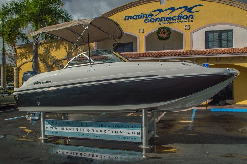 Thumbnail 1 for New 2016 Hurricane SunDeck SD 187 OB boat for sale in Vero Beach, FL