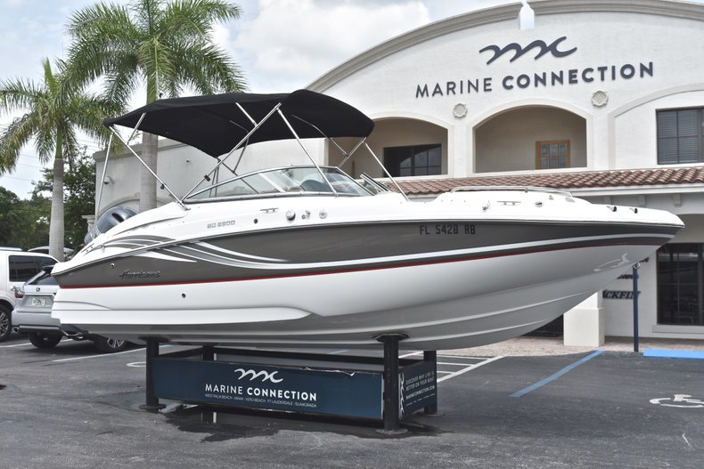 Thumbnail 1 for Used 2016 Hurricane SunDeck SD 2200 OB boat for sale in Fort Lauderdale, FL