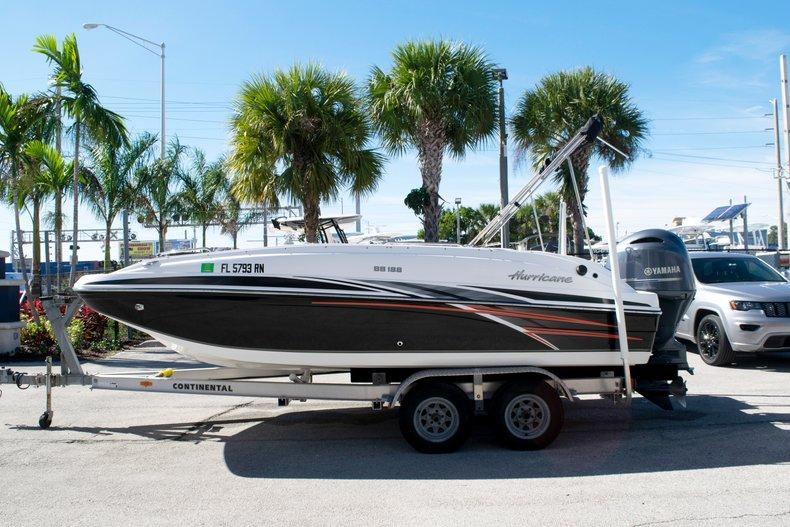 Thumbnail 2 for Used 2017 Hurricane SunDeck Sport SS 188 OB boat for sale in Fort Lauderdale, FL