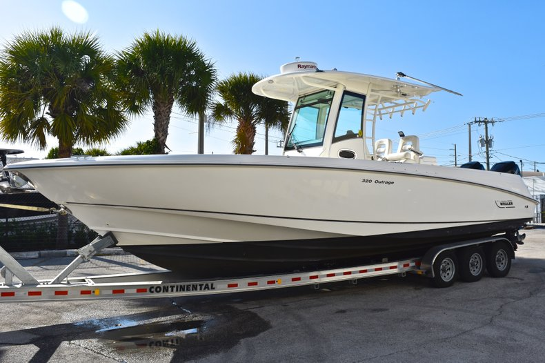 Thumbnail 3 for Used 2013 Boston Whaler 320 Outrage boat for sale in Fort Lauderdale, FL