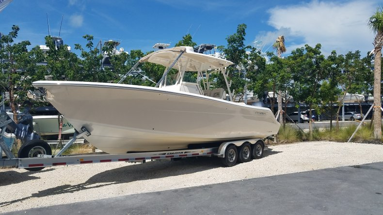 Thumbnail 1 for Used 2016 Cobia 296 Center Console boat for sale in Islamorada, FL