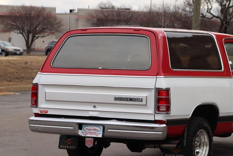 1986 dodge ramcharger se