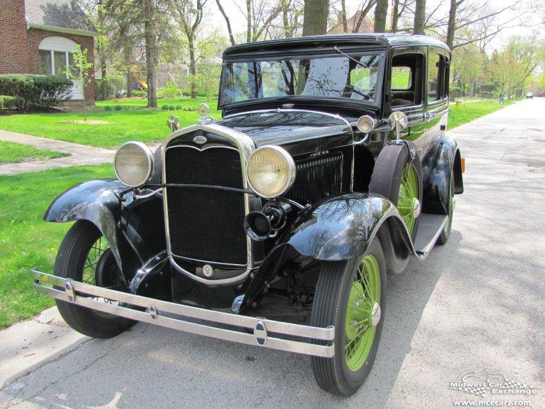 1931 ford model a slant window town sedan model 160 b