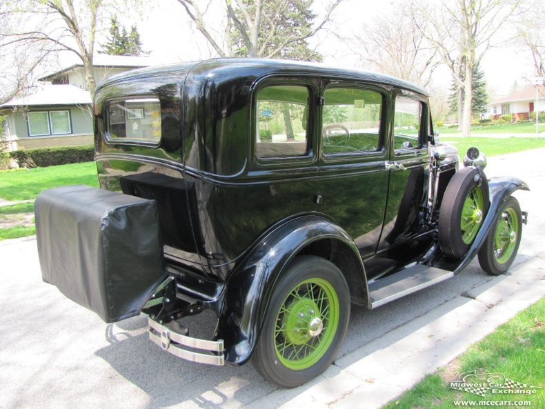 1931 ford model a slant window town sedan model 160 b