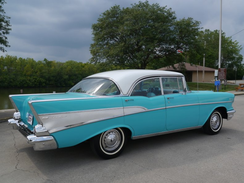 1957 chevrolet bel air 4 door hardtop sport sedan