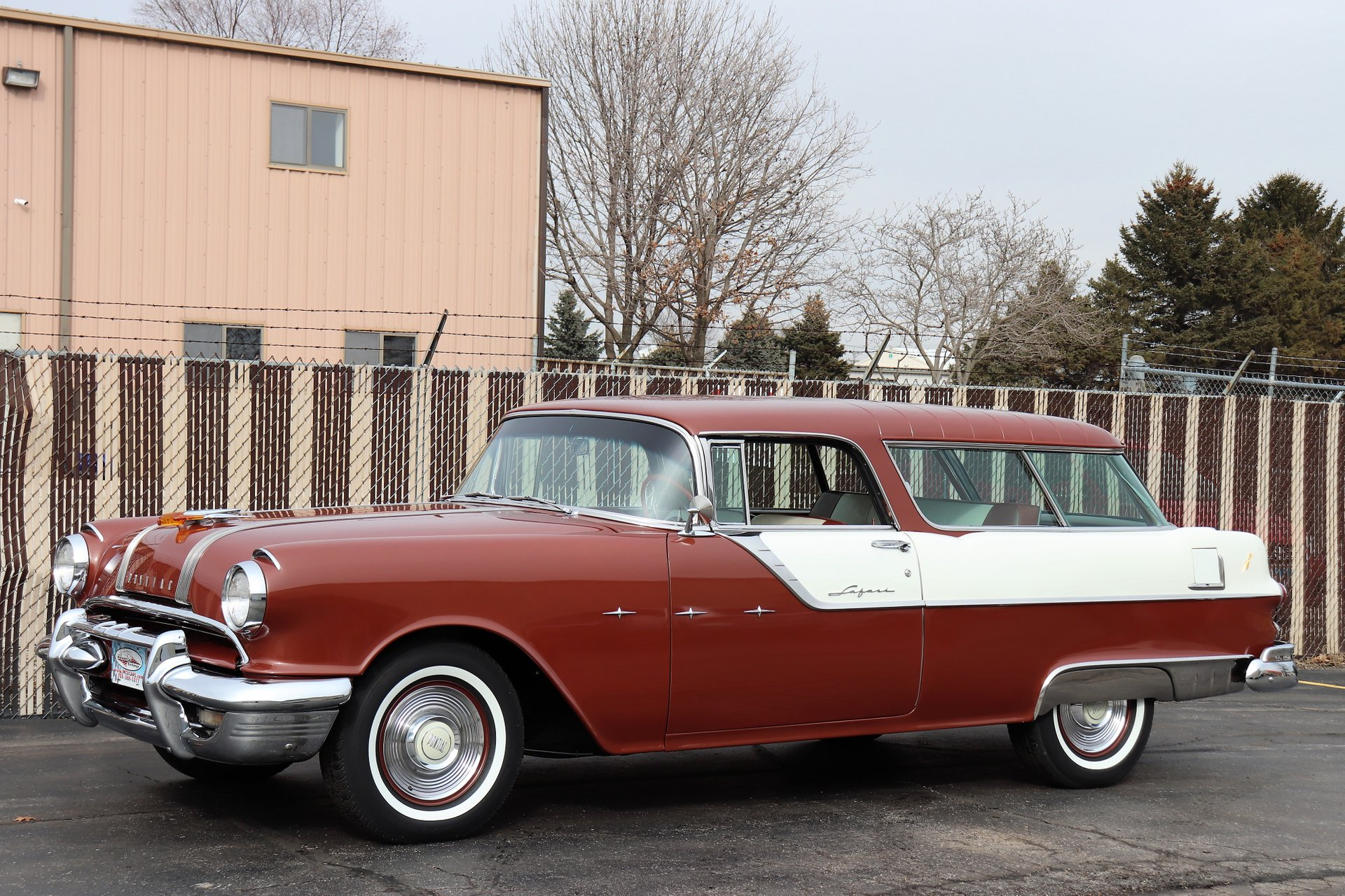 1955 pontiac star chief custom safari station wagon