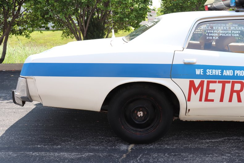 1976 plymouth fury hill street blues tv police car