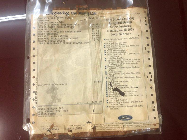 For Sale 1967 Mercury Comet Caliente