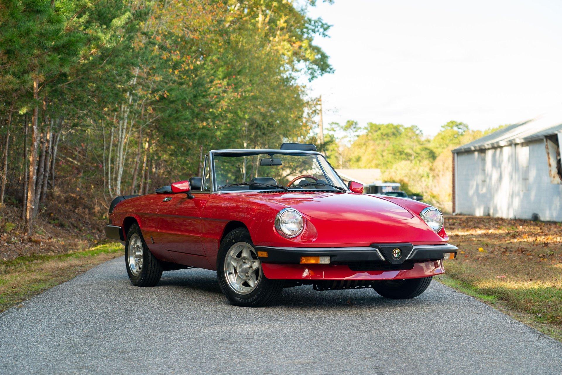 1985 alfa romeo spider 4 speed manual