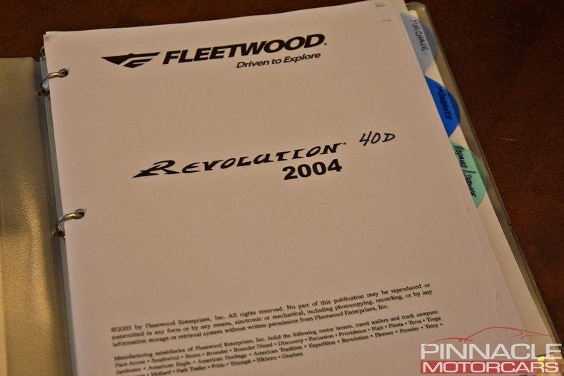 For Sale 2004 Fleetwood Revolution 40D