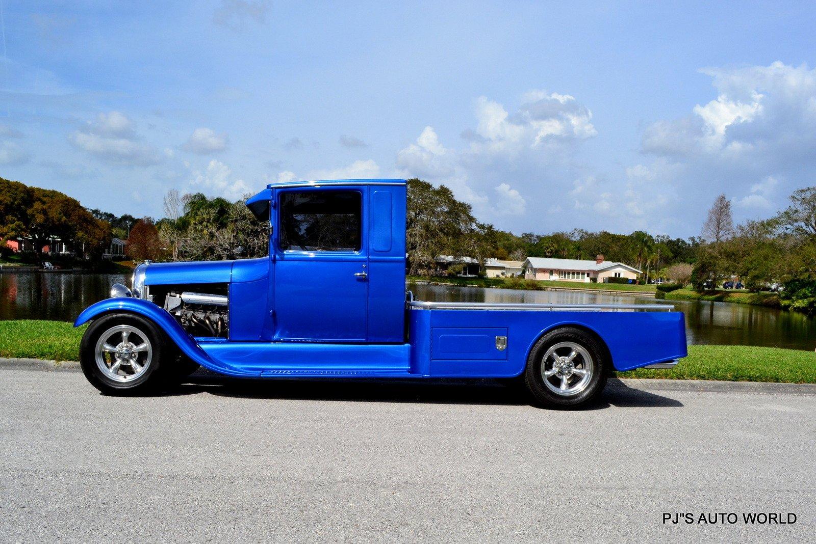 1929 ford model a custom pickup truck