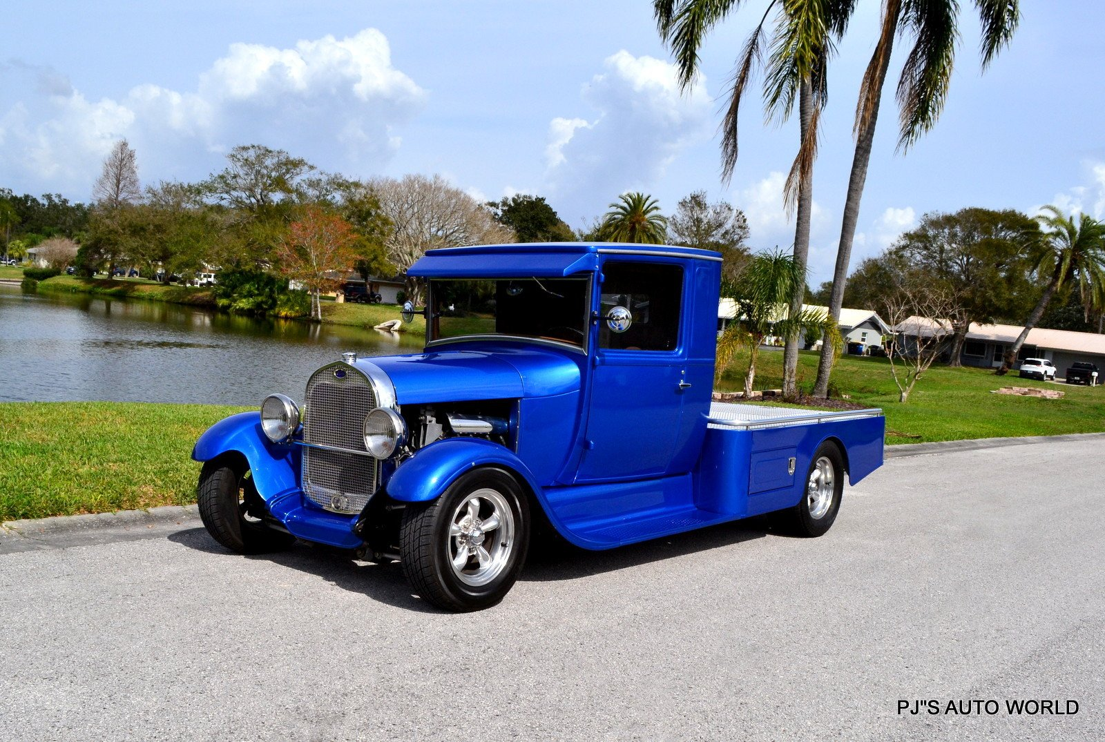 1929 ford model a custom pickup truck