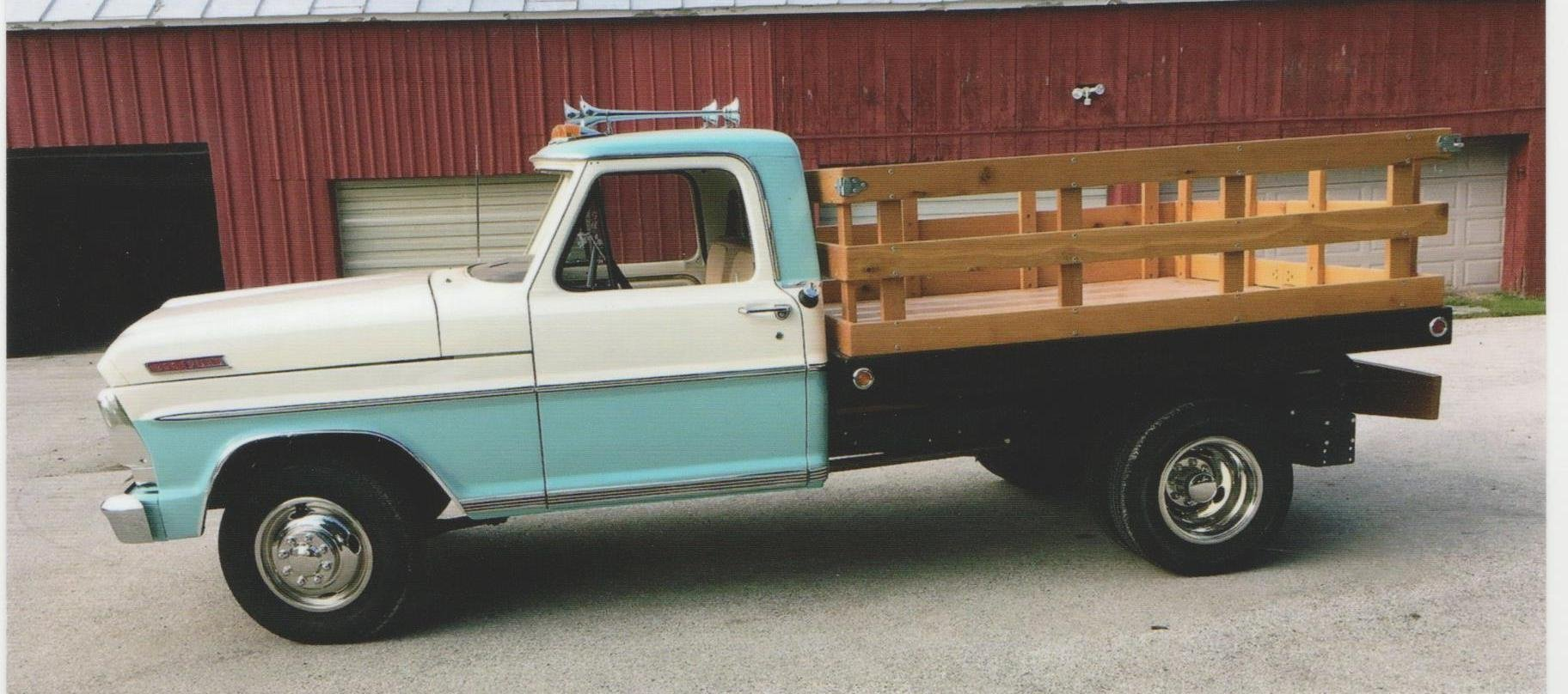 1967 ford 1 ton flatbed dump truck