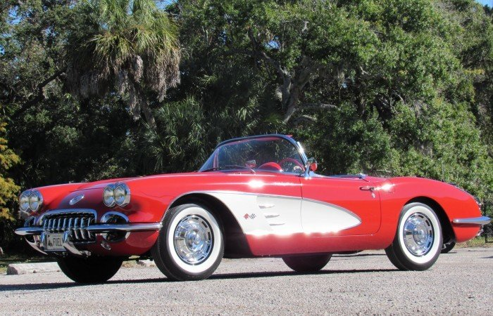 1959 chevrolet corvette fuelie top flight convertible