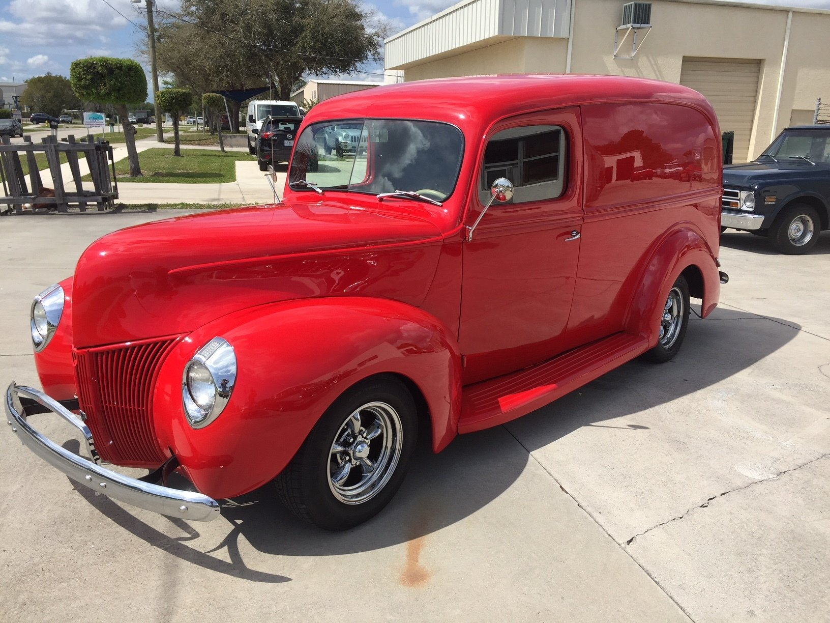 1940 ford custom panel delivery truck