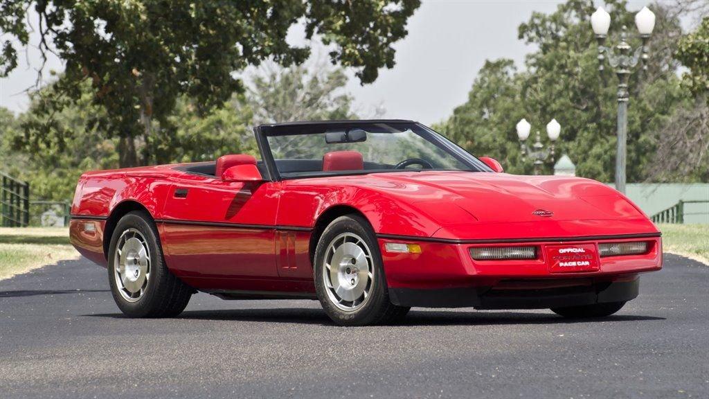 1986 chevrolet corvette pace car convertible