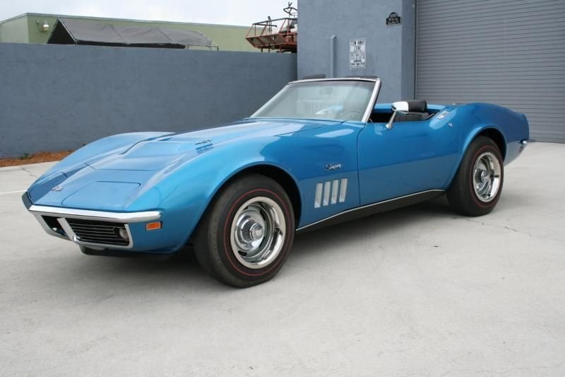 1969 chevrolet corvette 427 435hp l 89 convertible