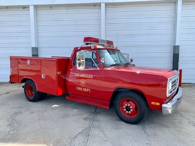1991 dodge d 350 squad 51 re creation