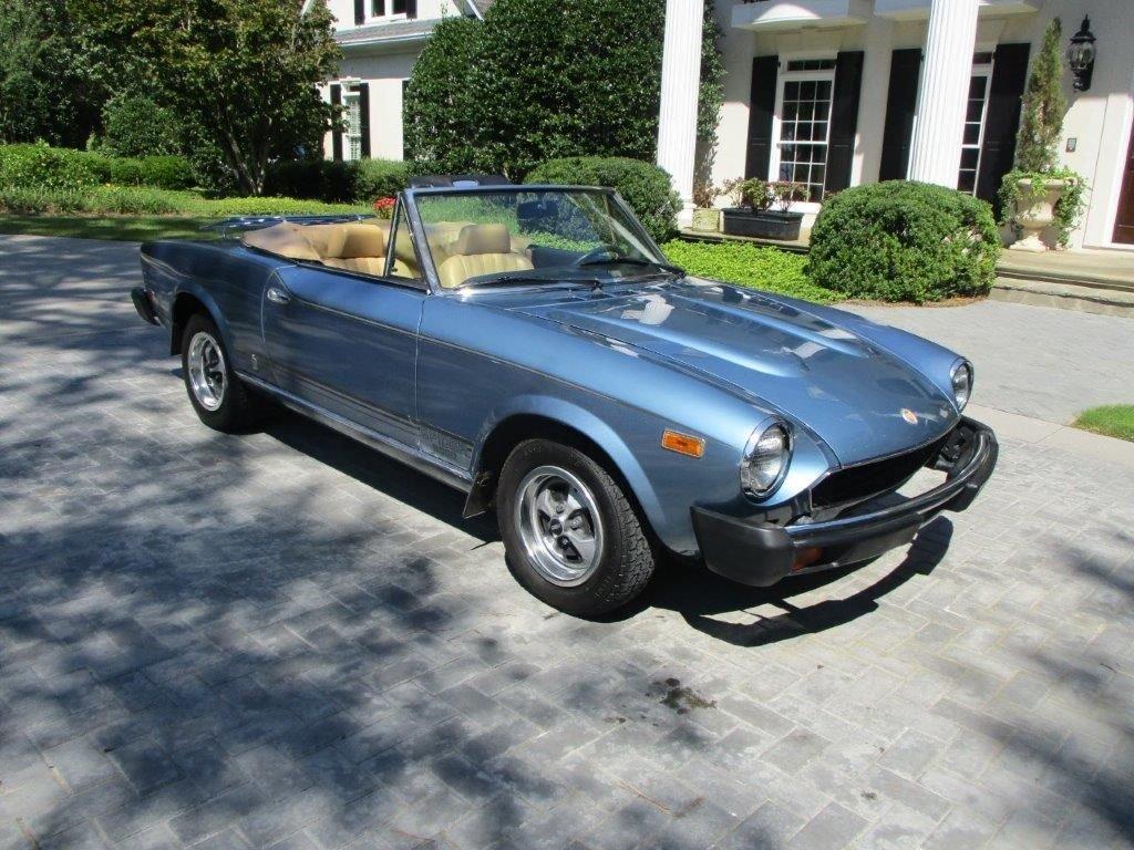 1979 fiat 2000 spider convertible
