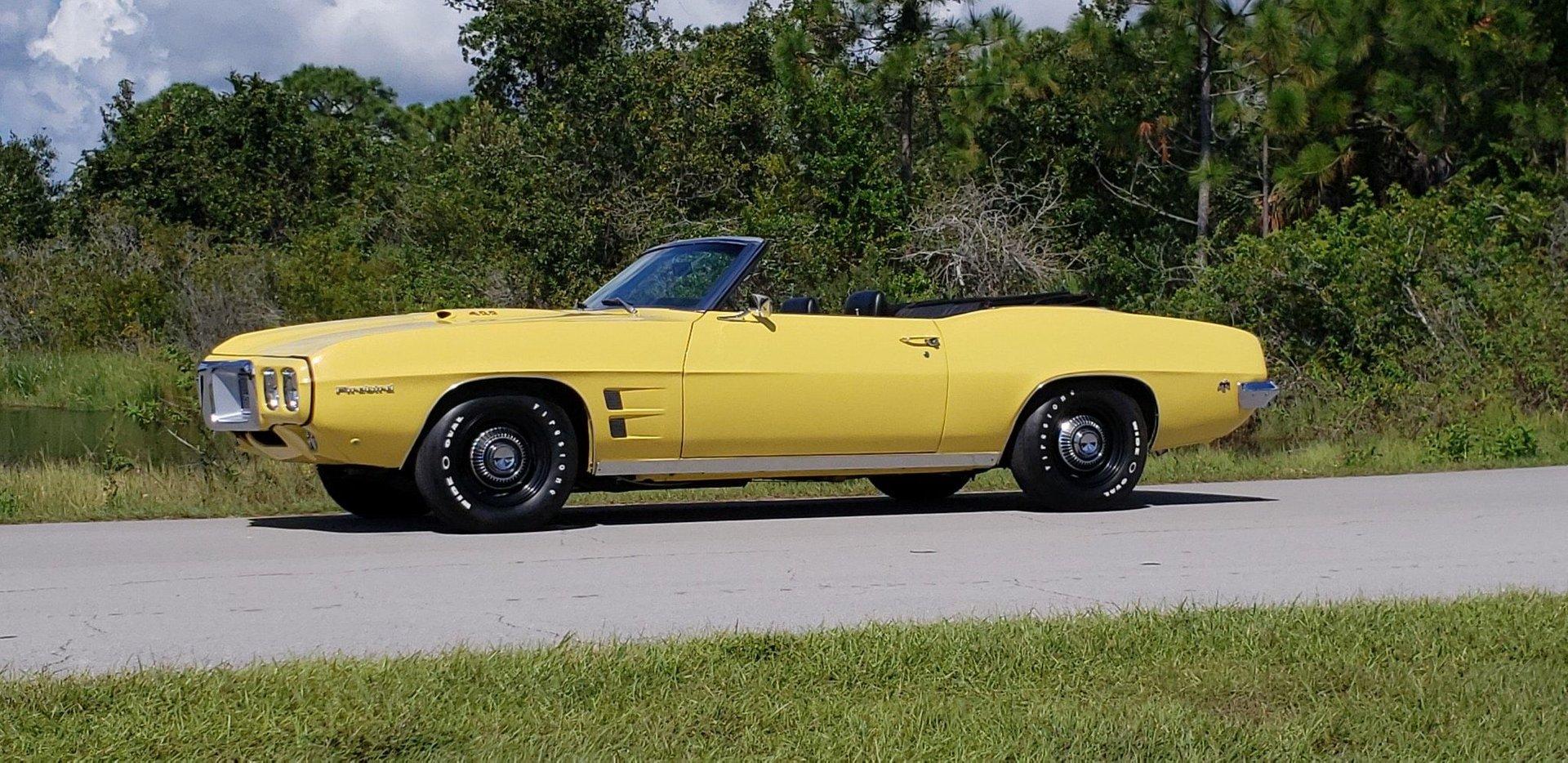1969 pontiac firebird ram air iii convertible